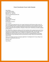 Operations Coordinator Cover Letter 9 10 Cover Letters For Event Planners Mysafetgloves Com