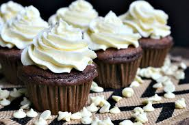 chocolate cupcake with cream cheese frosting. Double Chocolate Cupcakes With White Cream Cheese Frosting From Willcookforsmilescom And Cupcake