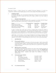 Scope Of Work Proposal Under Fontanacountryinn Com