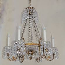 doré bronze six light and cut crystal bowl neoclassical chandelier with crystal chain a timeless design of crystal bobeches with cascading crystal prism