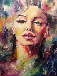 marilyn monroe oil painting iconic women collection katy jade