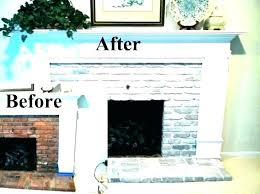 white brick fireplace painted brick before and after painted white brick fireplace white brick fireplace painted