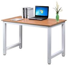Office desk workstation White Yaheetech Modern Simple Design Home Office Desk Computer Table Wood Desktop Metal Frame Study Writing Desk Workstation Walmartcom Walmart Yaheetech Modern Simple Design Home Office Desk Computer Table Wood