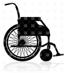 Wheelchair Black Silhouette Royalty Free Vector Clip Art Image