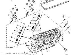 yamaha v8 5 7 yems 1990 engine parts lists and schematics yamaha v8 5 7 yems 1990 engine cylinder head valve