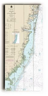 Nj Sea Girt To Little Egg Inlet Nj Nautical Chart Sign