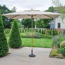 dominica wooden parasol 3m x 2m