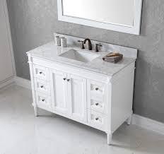 White Bathroom Vanity Cabinet Virtu Usa Tiffany 48 Bathroom Vanity Cabinet In White Bathtubs Plus