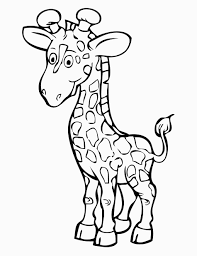 Tall Giraffe Coloring Page For Giraffe Coloring Pages Printable