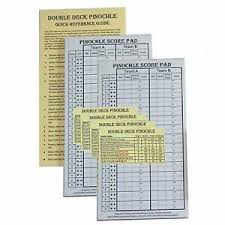 Double Deck Pinochle Meld Chart Details About Pinochle Score Pad Pack Of 2 Two 40 Page Score Pads Four Meld Tables And Doubl