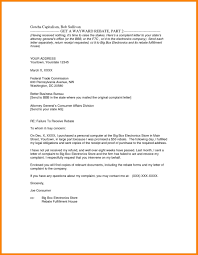 Cc In Letter Format Business Complaint Template And