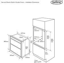 Wiring diagram for cooker circuit belling built under electric double oven bi70fp ao and cooker
