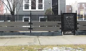 metal fence designs. Metal-horizontal-wood-fence Metal Fence Designs