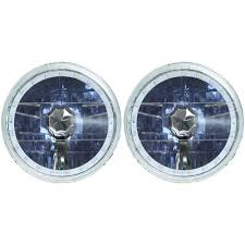 redline lumtronix headlight halogen led halo multi color pair 1965 1968 1970