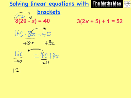 solving linear equations with brackets