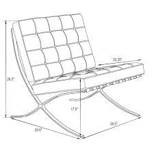 Furniture: Home Design Barcelona Chair Dimensions Bath Combined ...
