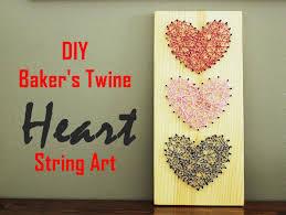 Diy String Art Diy Bakers Twine Heart String Art