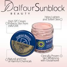 dalfour beauty glutathione whitening sunblock cream spf90
