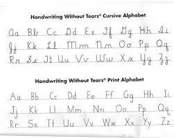 Online Cursive Chart Cursive And Print Handwriting Without Tears Cursive