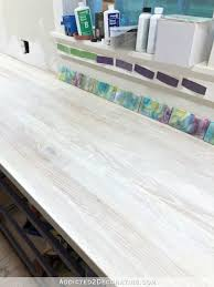 one thing i can actually officially cross off of my to do list for that room my countertop that i made from red oak