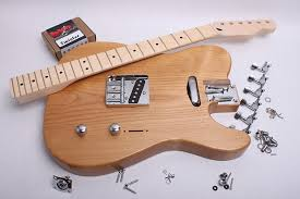 byoguitar rear rout telecaster electric guitar kit finished with tru oil made in usa