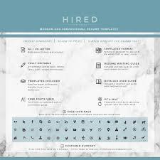 Modern Resume Template Archives Hired Design Studio