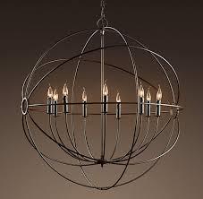 chandelier restoration hardware vintage pendant lamp black color 1 of 11free