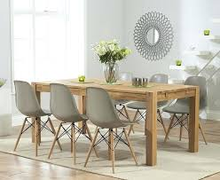 oak kitchen table and chairs impressive light dining solid round furniture