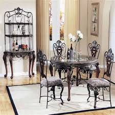 wood and metal dining table and chairs s 52 gracious metal with ideas with dining room