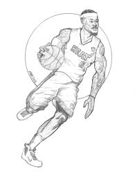 compromise rus westbrook coloring pages lebron james dunk drawing at getdrawings com free for personal use