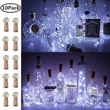 <b>Wine</b> Bottle <b>Lights</b> with <b>Cork</b>, 10 Pack Battery Operated LED <b>Cork</b> ...