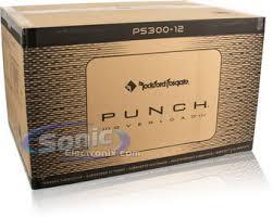 rockford fosgate ps300 12 (ps30012) 600w max, 12\