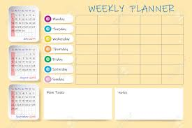 Monthly And Weekly Planners Calendar For Third Quarter Of 2019 Year With Weekly Planner Chart