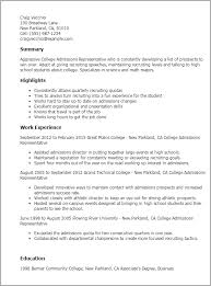 College Admissions Resume Template