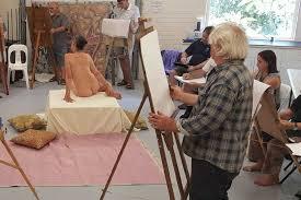 Class drawing life nude