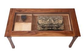 spacious display case coffee table of game glass image and description