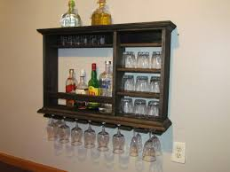 mini bar ebony stain 3 x2 wall mounted wine rack by