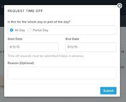 Time Off Request Form Template Sheet Timesheet Piliapp Co