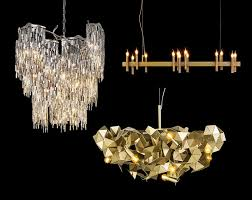 clockwise left to right arthur shiro and fractal chandeliers from brand van egmond