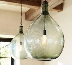 glass pendant lighting pottery barn inside seeded lights plan 7