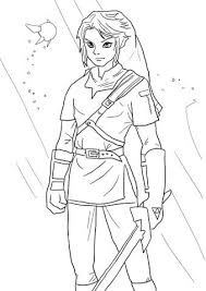 Link From Legend Of Zelda Coloring Page Lineart Zelda Link