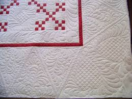 145 best Quilts - Whole Cloth images on Pinterest | Embroidery ... & Red and white single Irish chain AND crazy heavy quilting.somebody sedate  me. Adamdwight.com