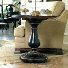 accent side tables round black pedestal table end
