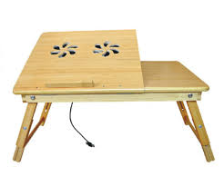 deluxe comfort bamboo laptop desk with internal cooling fan 100 bamboo multi functional laptop reading bamboo stand foldable poratble desk