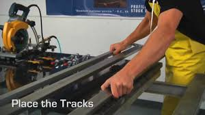 how to cut granite or quartz with accuglide rail saw