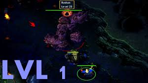 dota tricks 4 kill roshan level 1 youtube