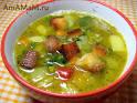 Сухарики в духовке для горохового супа
