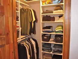 image of simple small closet storage ideas