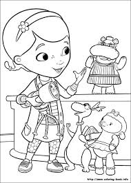 Doc Mcstuffins Coloring Picture Disney Coloring Pages Pinterest
