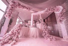 Cherry Blossom Backdrop Us 308 75 5 Off 210cm Long Pink Cherry Blossom Flower Table Runner Wedding Artifical Silk Flower Backdrop Wedding Decoration In Artificial Dried